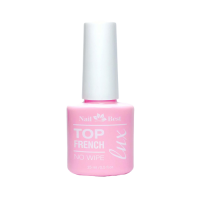 LUX Top Nail Best FRENCH TOP, 15 g / молочный топ без л.с